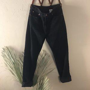 Vintage jordache mom jean tapered leg black denim